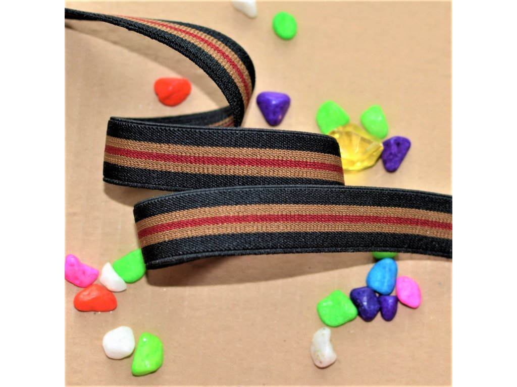 0,5 m guma do pasu belt striped 2 cm