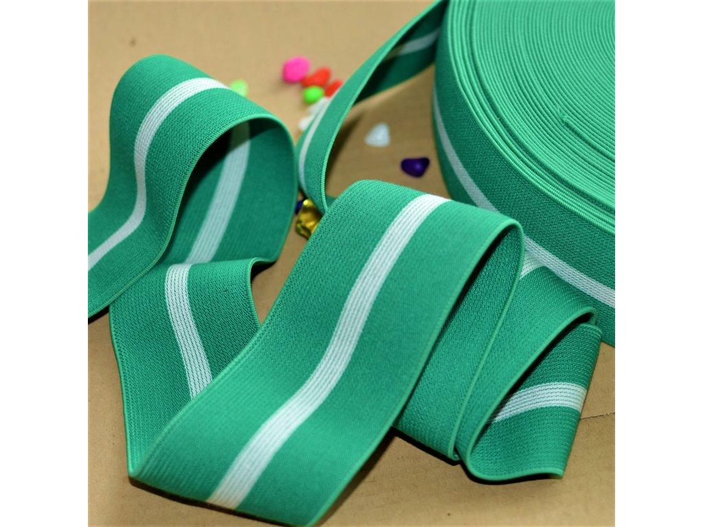 0,5 m oboustranná guma do pasu Soft Green 6 cm