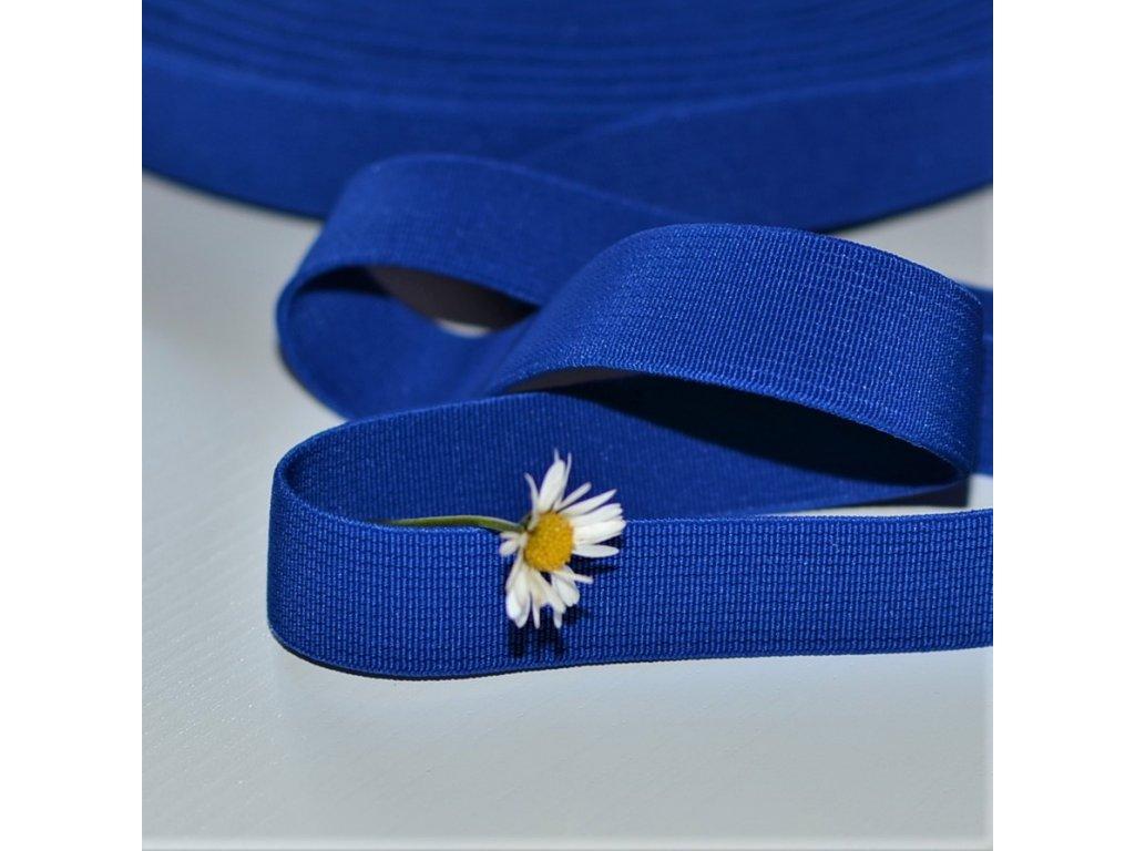 0,5 m tkaná guma do pasu královsky modrá 2 cm