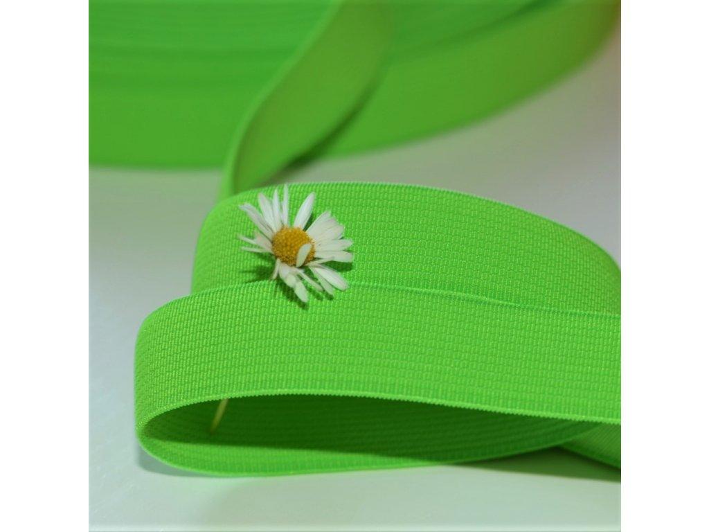 0,5 m tkaná guma do pasu zelená 2 cm