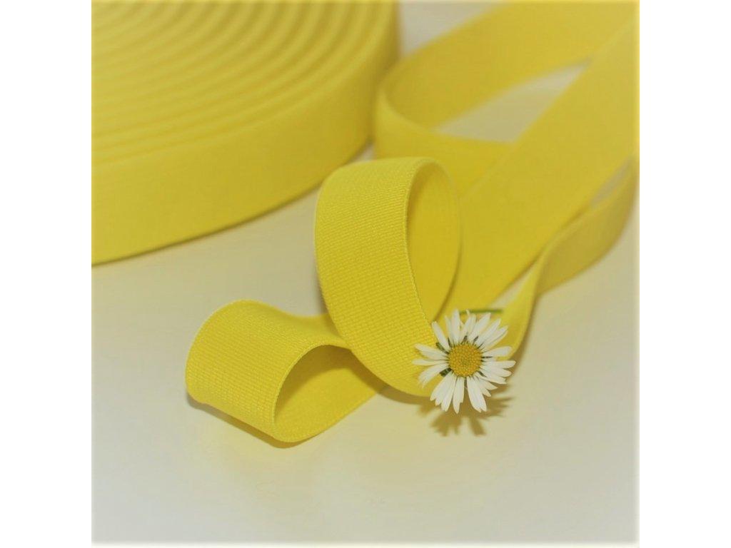 0,5 m tkaná guma do pasu žlutá 2 cm
