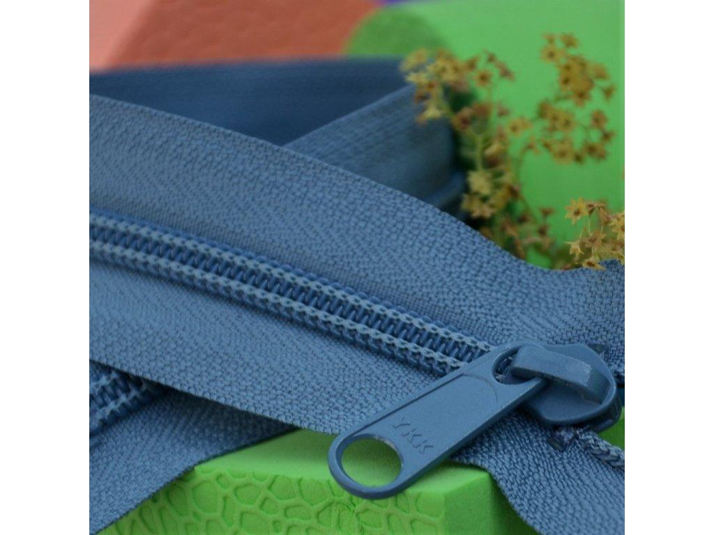 dělitelný spirálový zip YKK - 70 cm, modrošedý