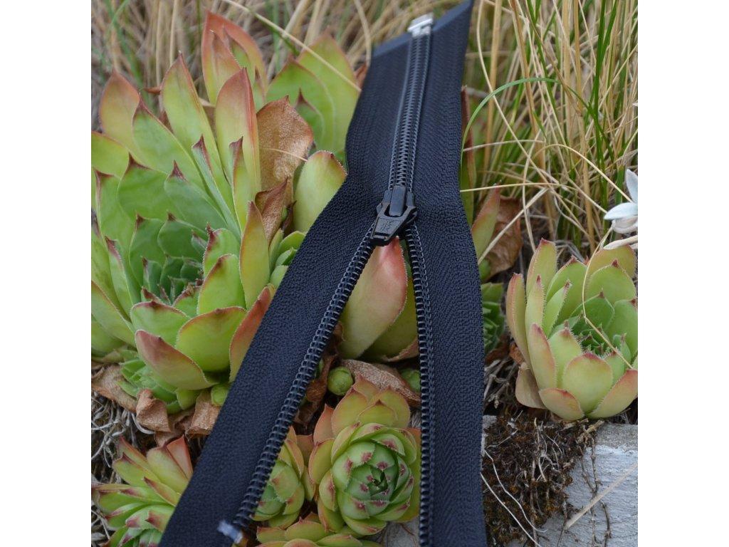 dělitelný spirálový zip YKK - 70 cm, černý