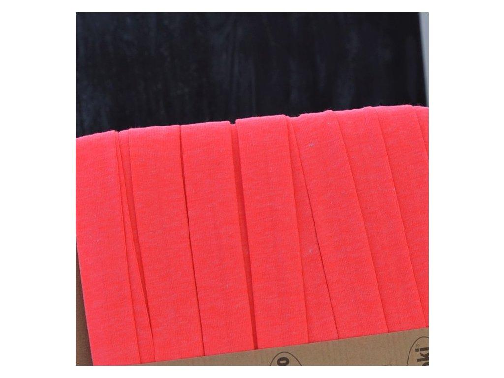 3 m šikmý proužek úplet růžový neon 20 mm