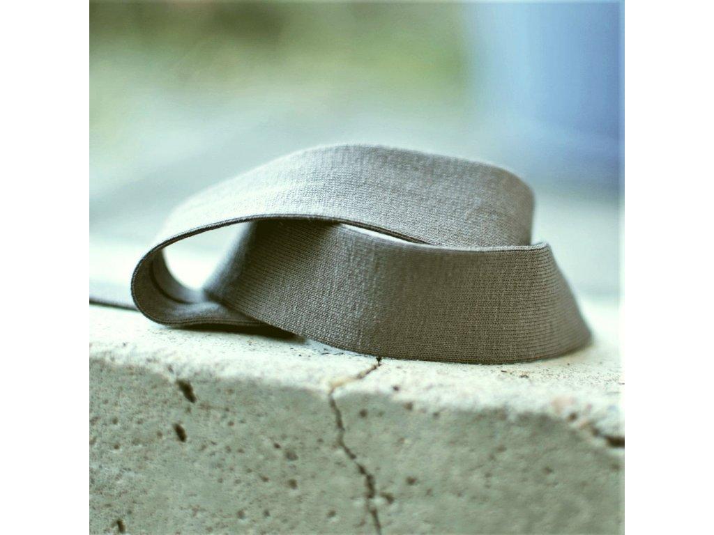 3 m šikmý proužek úplet khaki 20 mm