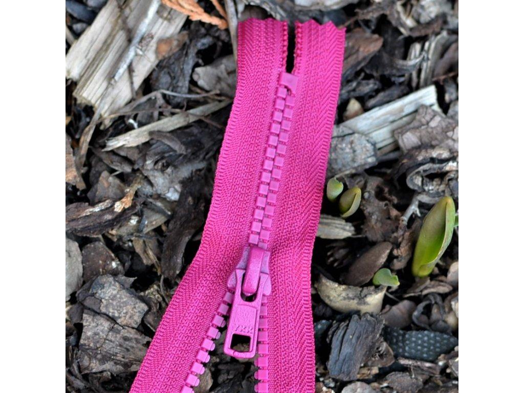 nedělitelný kostěný zip YKK - 20 cm, magenta