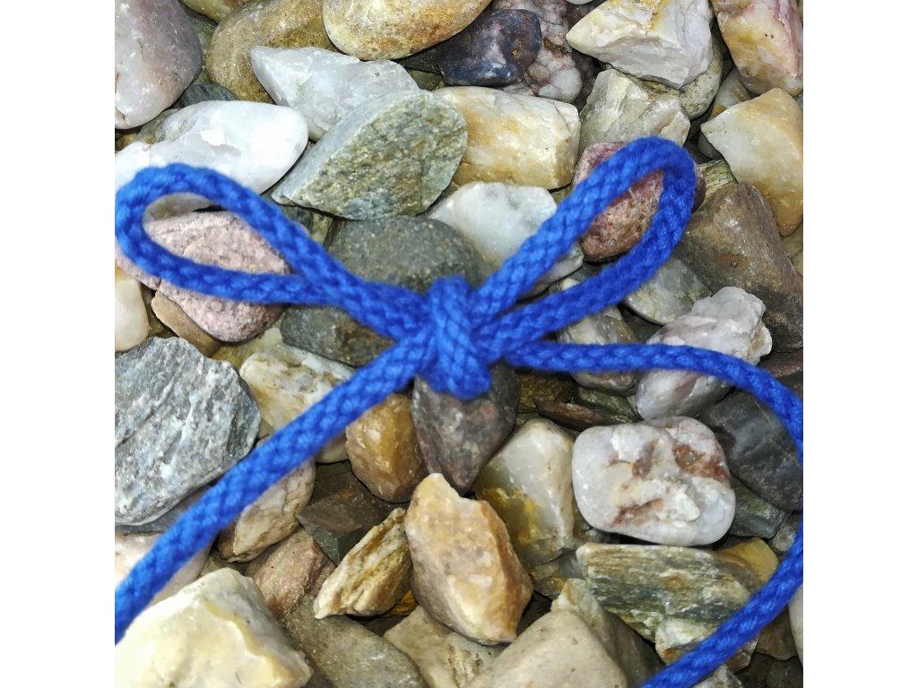 0,5 m bavlněná tkanice modrá 3 mm