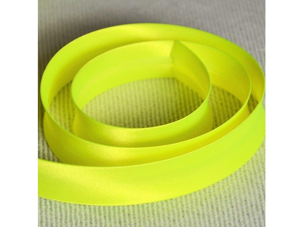 0,5 m šikmý proužek neon žlutý 18 mm (100% polyester)