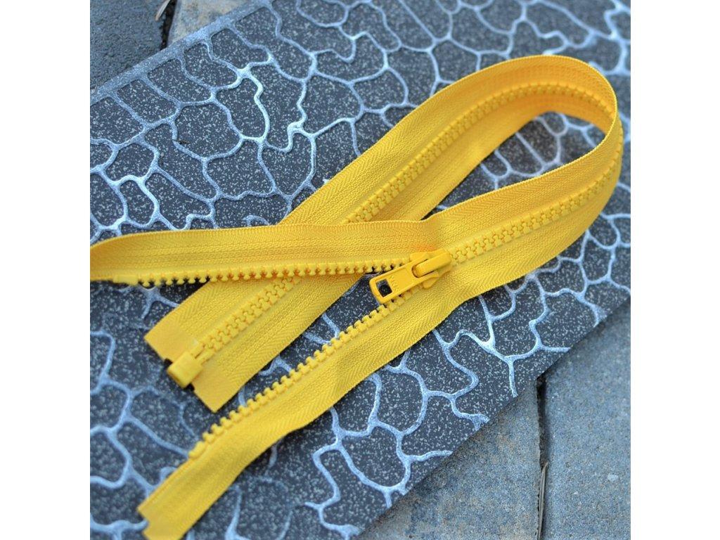 dělitelný kostěný zip YKK - 80 cm, teplejší žlutá