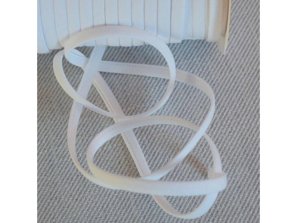 0,5 m šikmý proužek SEŠITÝ (dutinka) bílý 7 mm