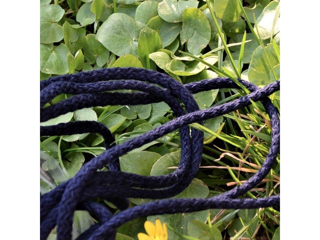 0,5 m bavlněná tkanice dark blue 0,5 cm