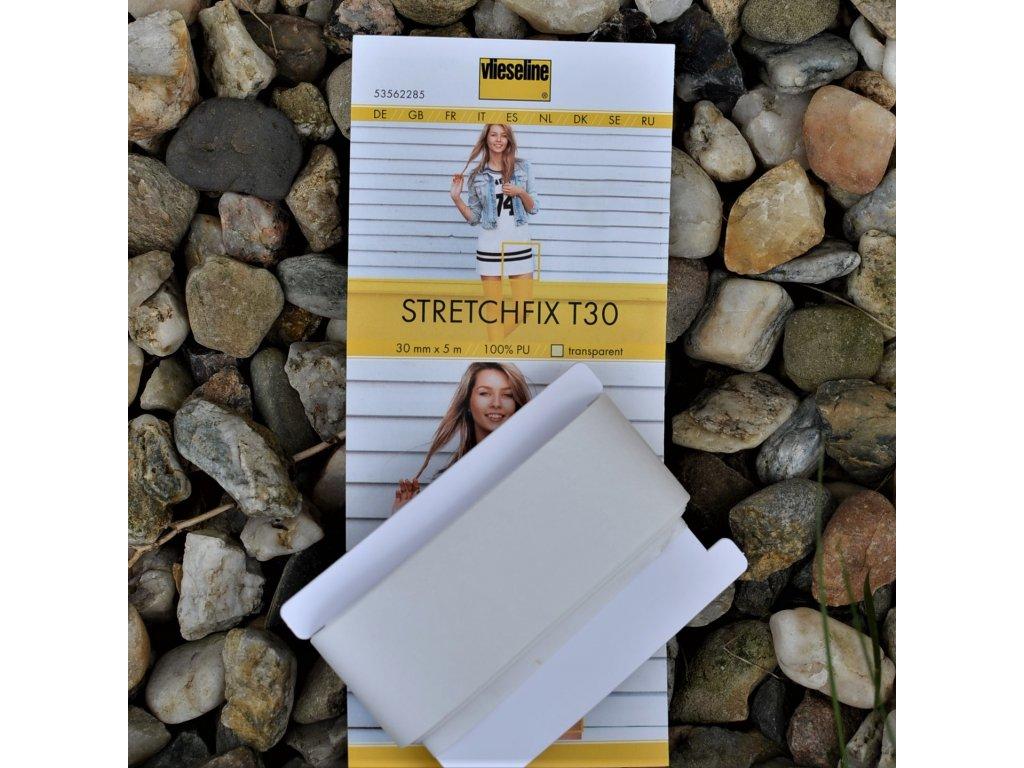 Stretchfix zažehlovací pásek šířka 3 cm - balení 5 m