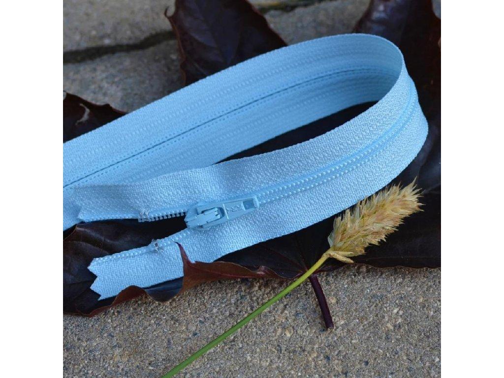 nedělitelný spirálový zip YKK vel. 3 - 35 cm, světle modrá
