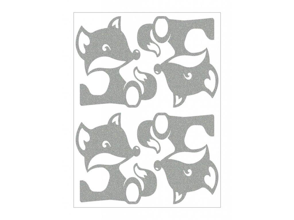 Reflexní nažehlovací potisk - lišky