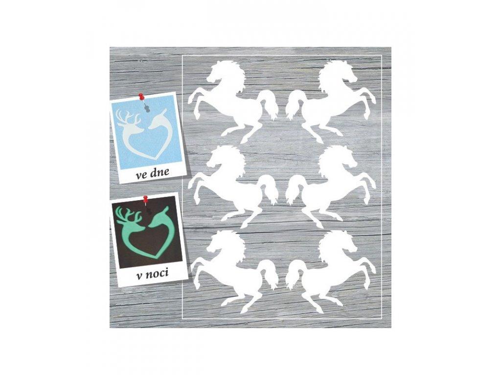Svítící nažehlovací potisk - Koně