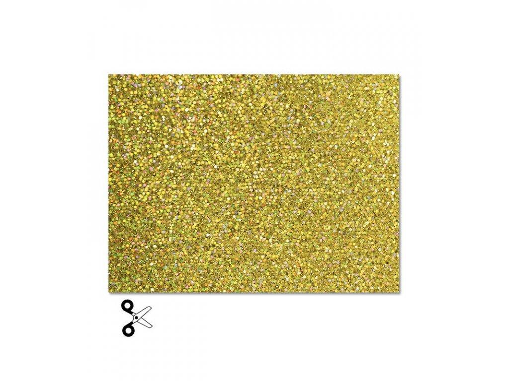 Třpytivá nažehlovací fólie, zlatá
