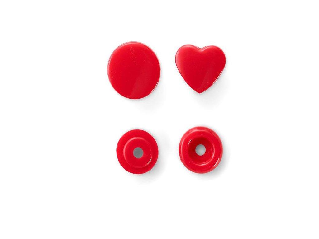 patentky srdíčka Prym Color Snaps 12,4 mm červená