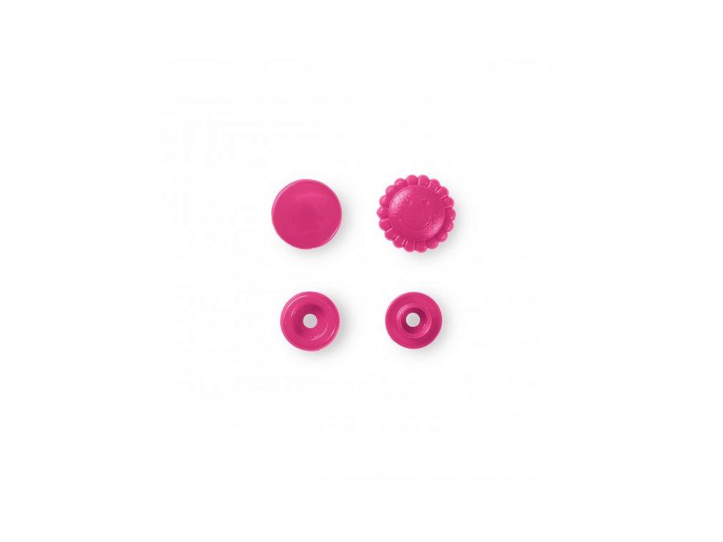 patentky kytičky Prym Color Snaps 13,6 mm růžové