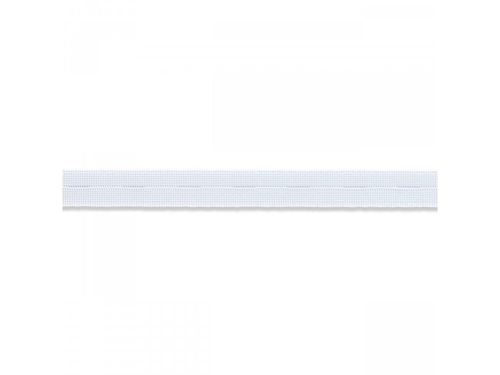 elastická pruženka s knoflíkovými dírkami 18 mm PRYM,  bílá, 1m