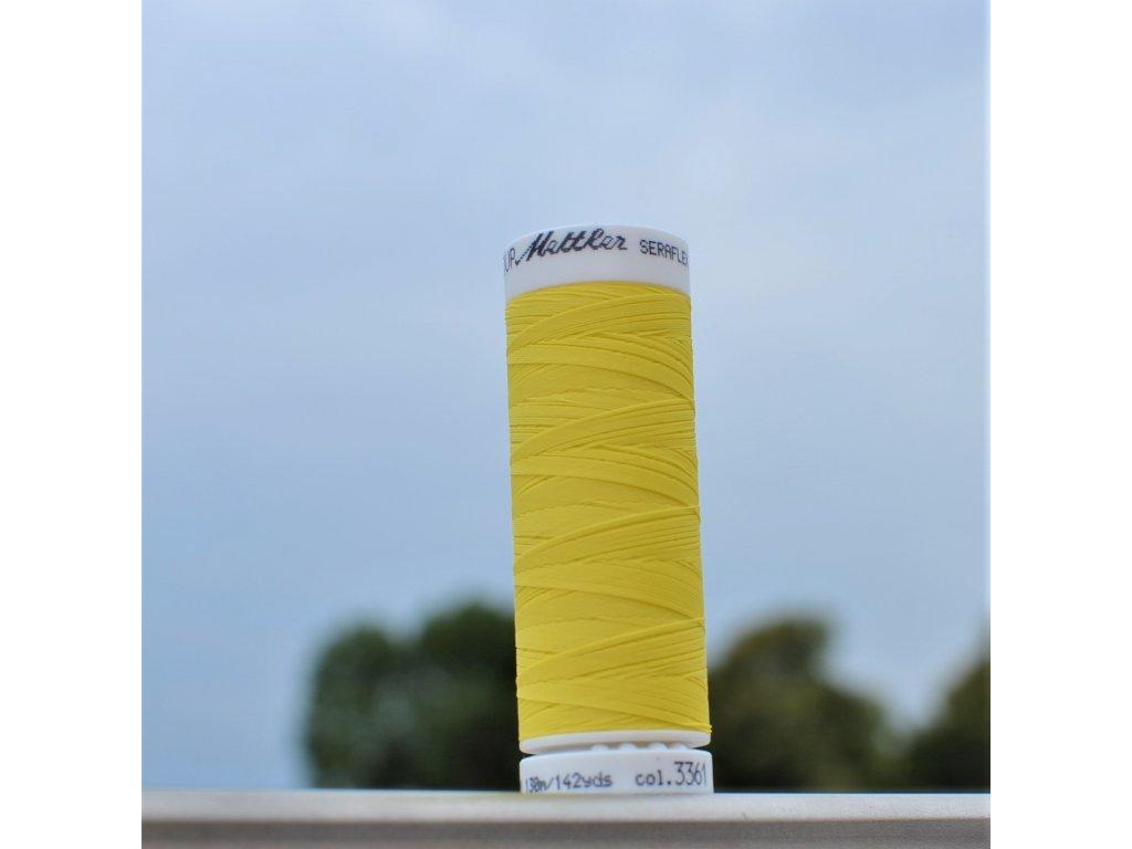 elastická niť SERAFLEX  žlutá - návin 130 m