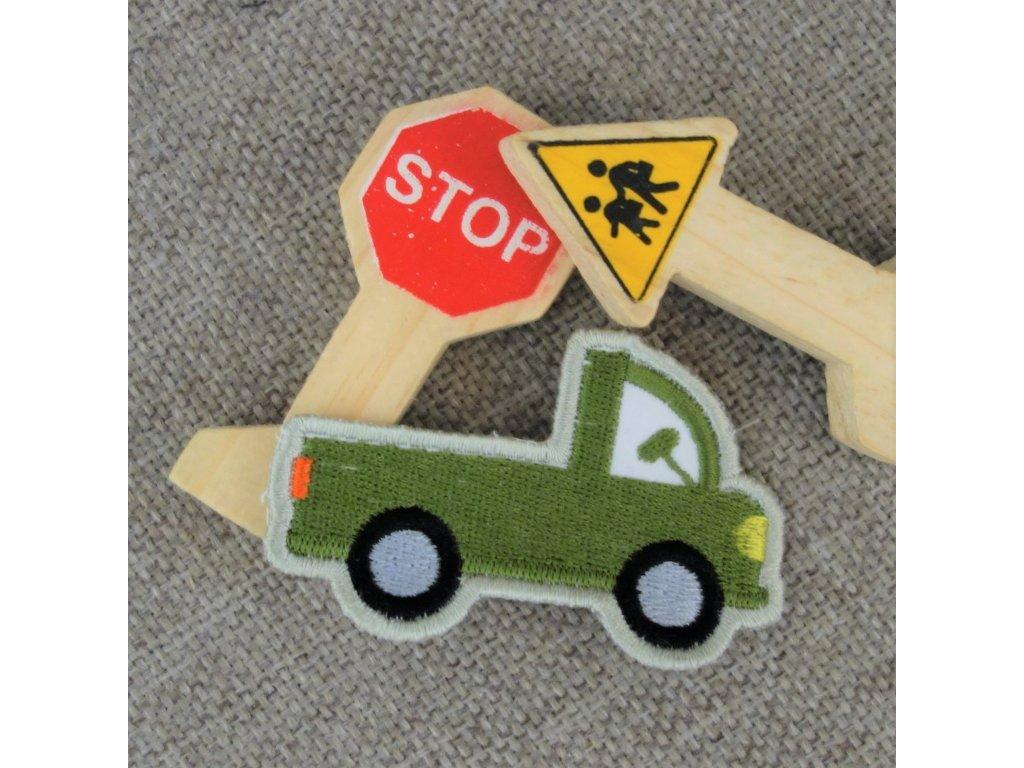 Nášivka Autíčko mini zelené