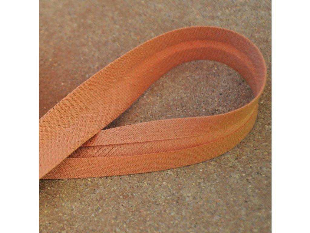 0,5 m šikmý proužek hnědý 18 mm (bavlna/polyester)