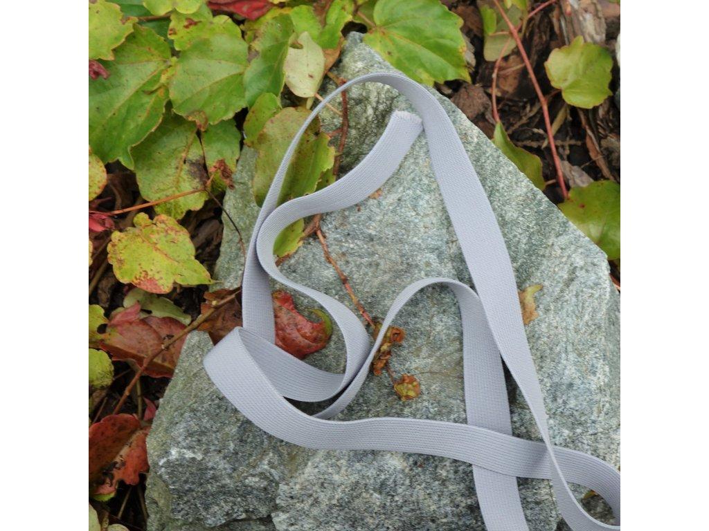 0,5 m tkaná guma do pasu šedá 2 cm
