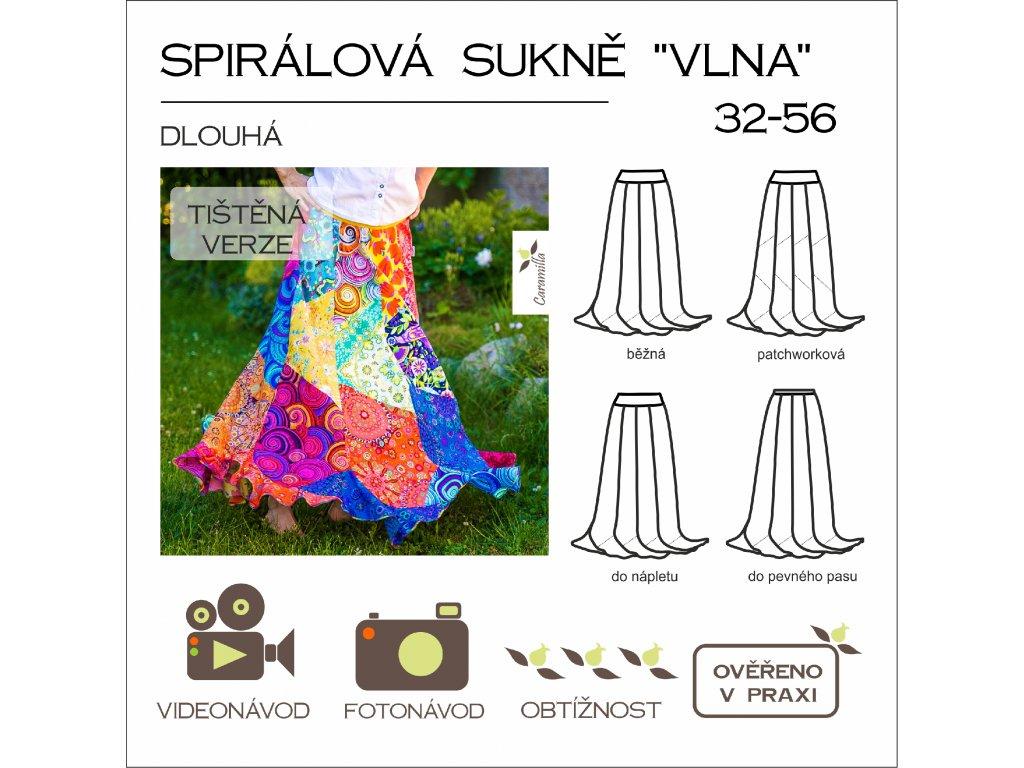spiralova sukne vlna dlouha