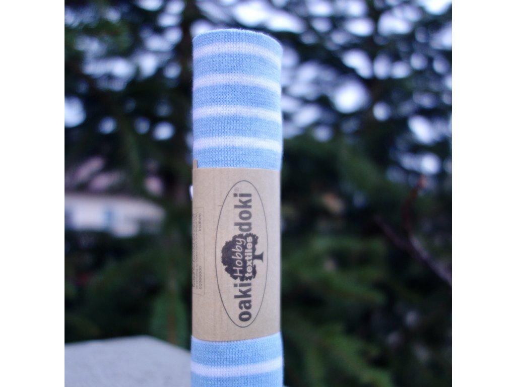 náplet jemný 15 x 70 cm proužky světle modré a bílé