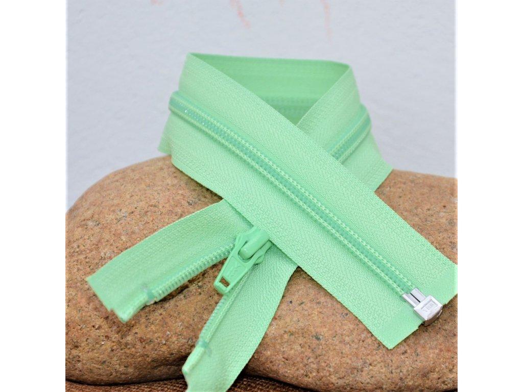 dělitelný spirálový zip YKK - 65 cm, světle zelený