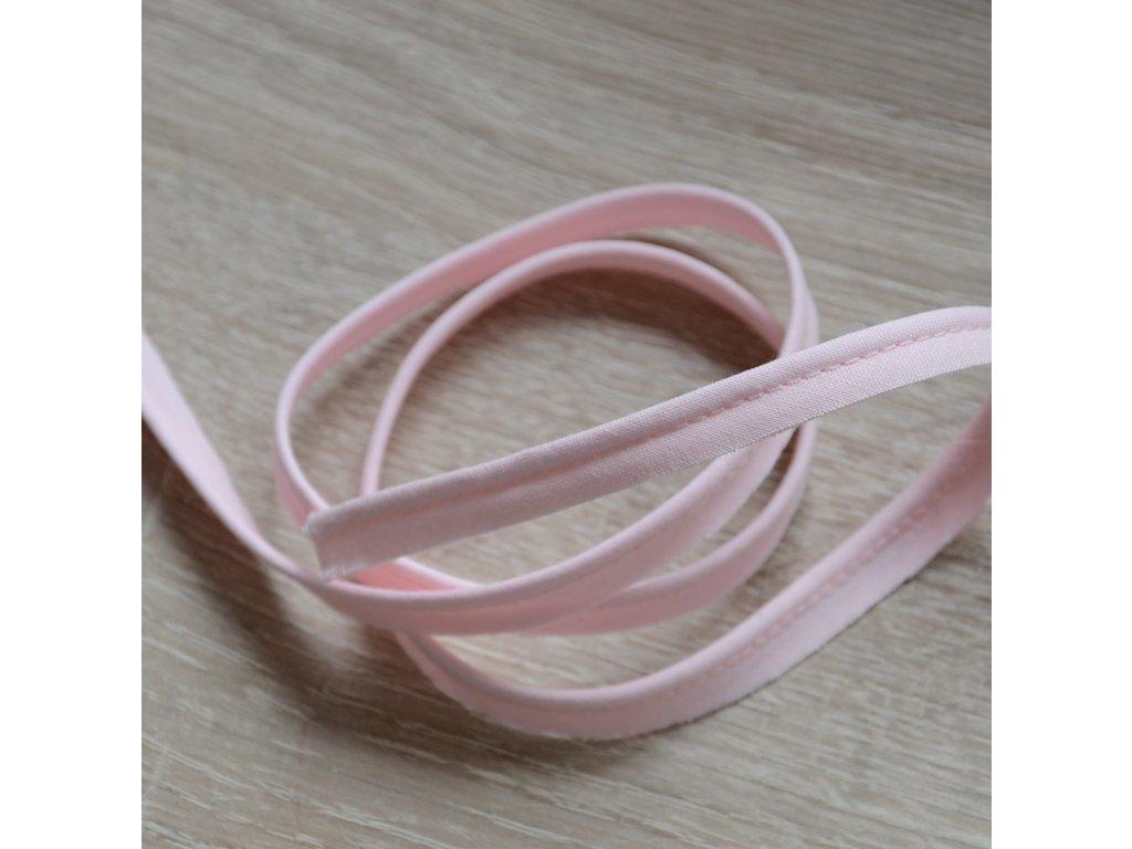 0,5 m paspule světle růžová 10 mm (bavlna)