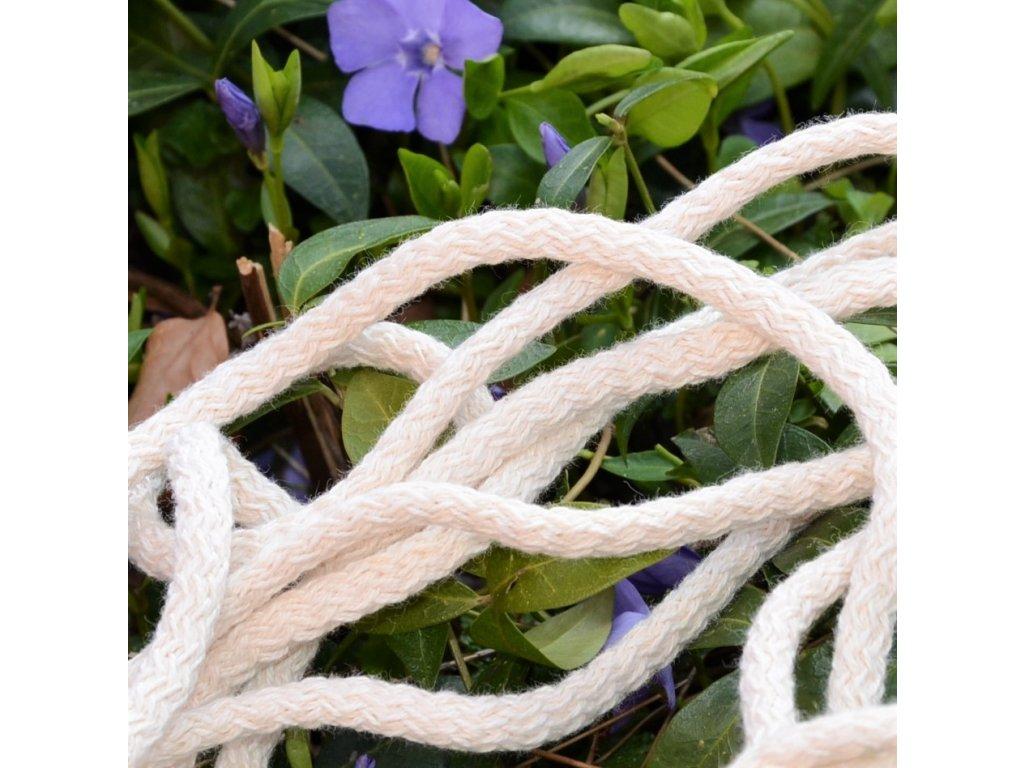 0,5 m bavlněná tkanice natural 0,3 cm