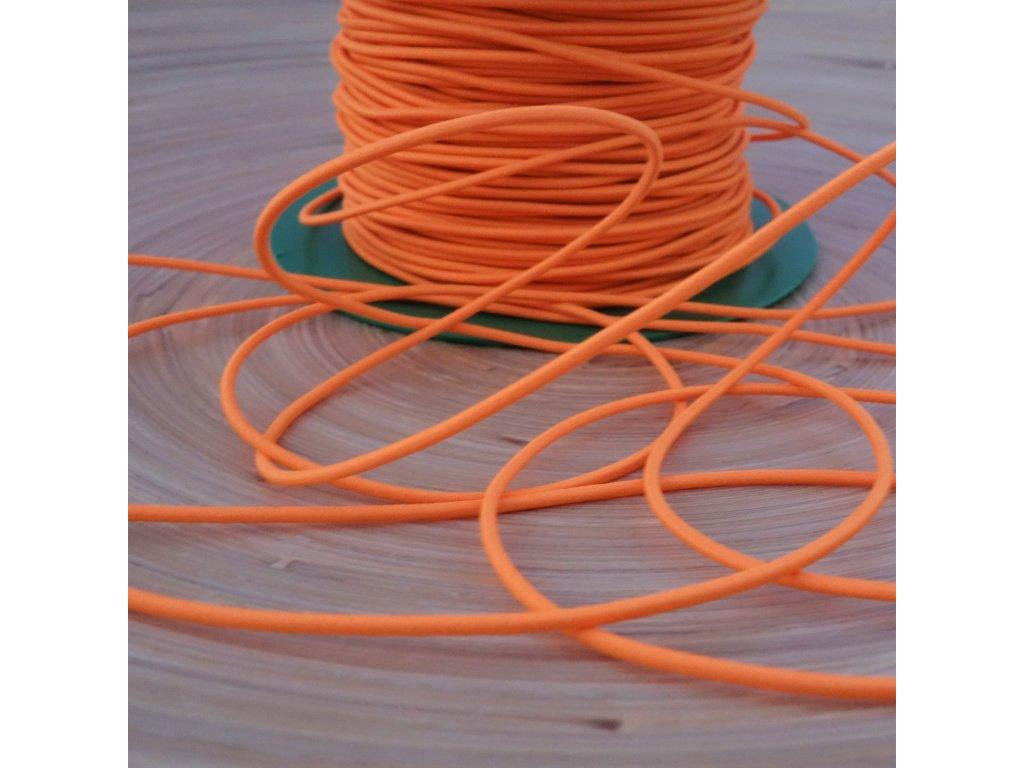0,5 m kulatá pruženka oranžová 1,5 mm