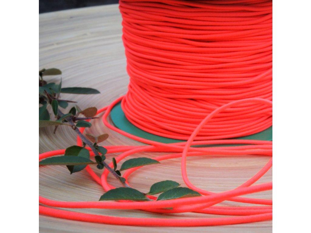 0,5 m kulatá pruženka růžovooranžová neon 1,5 mm