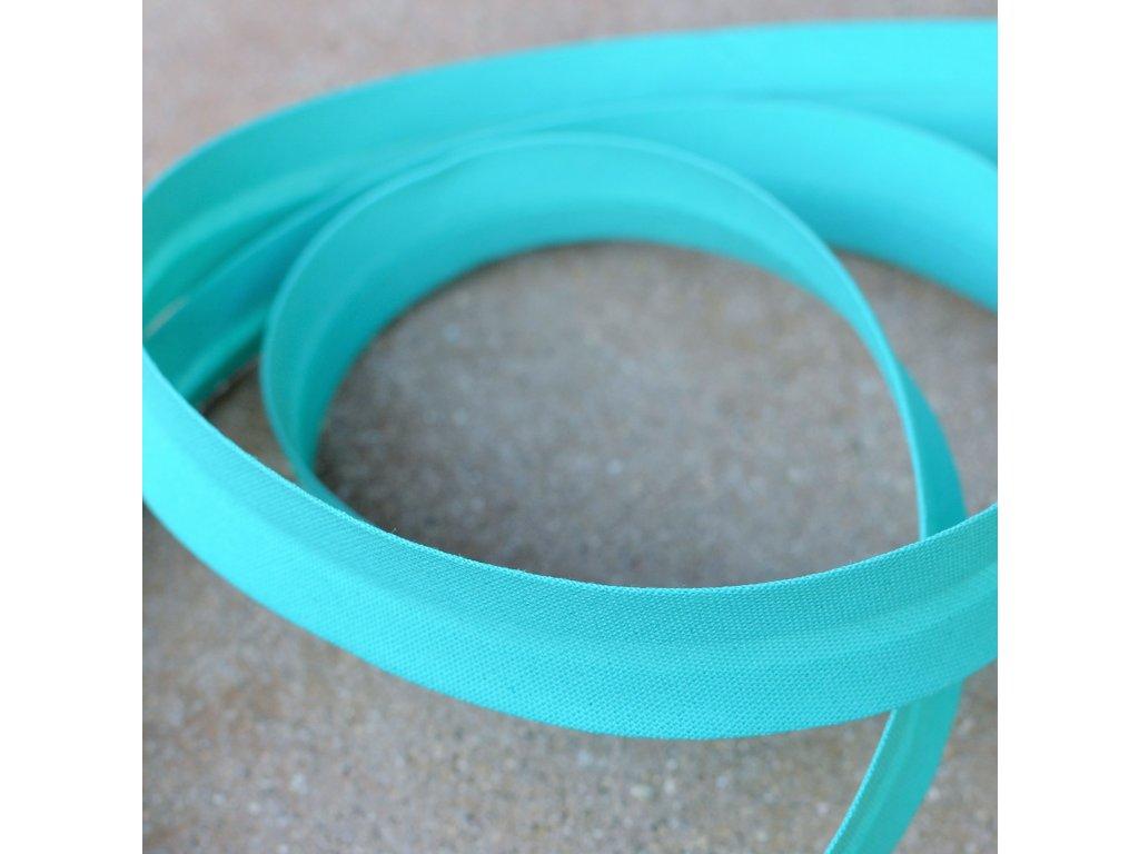 0,5 m šikmý proužek tyrkysový 18 mm (bavlna/polyester)