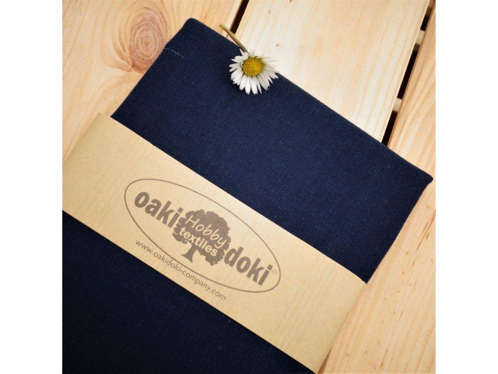 bavlna balíček 50x70 cm tmavě modrá