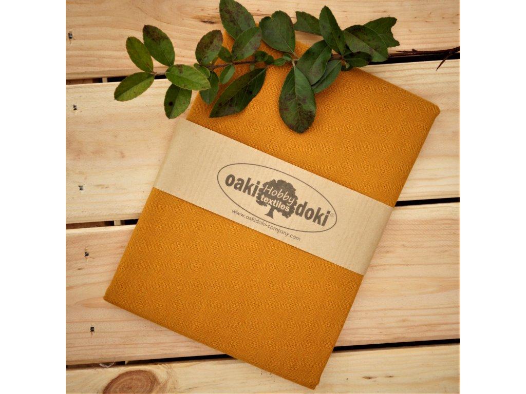 bavlna balíček 50x70 cm hořčicová