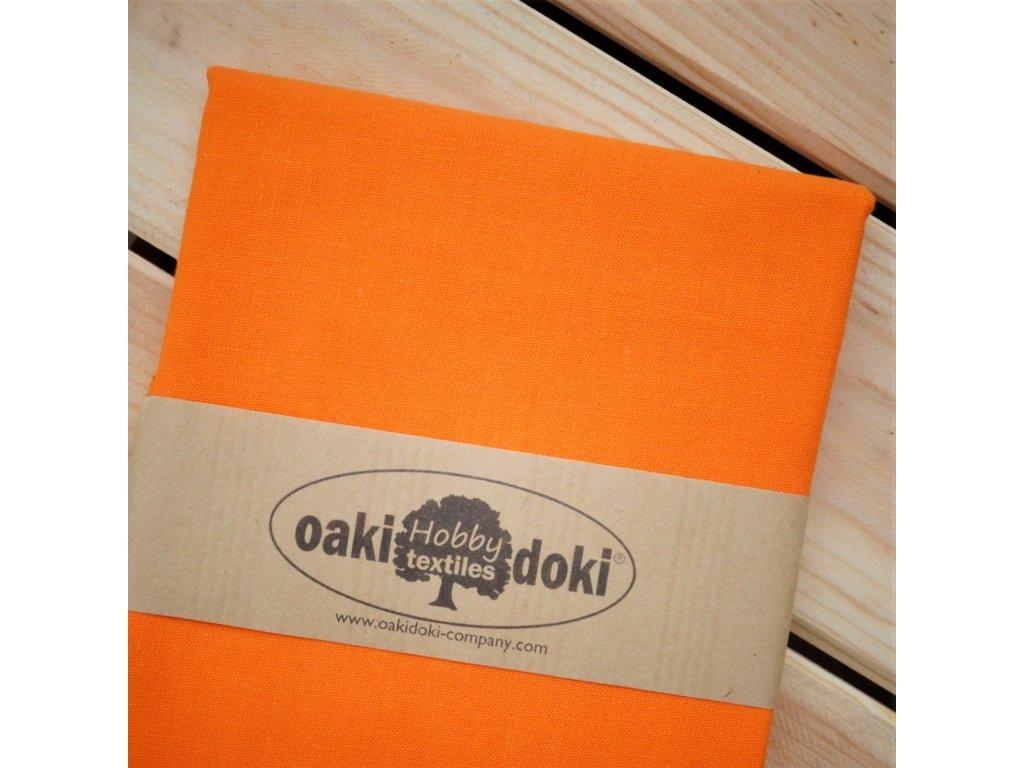 bavlna balíček 50x70 cm oranžová