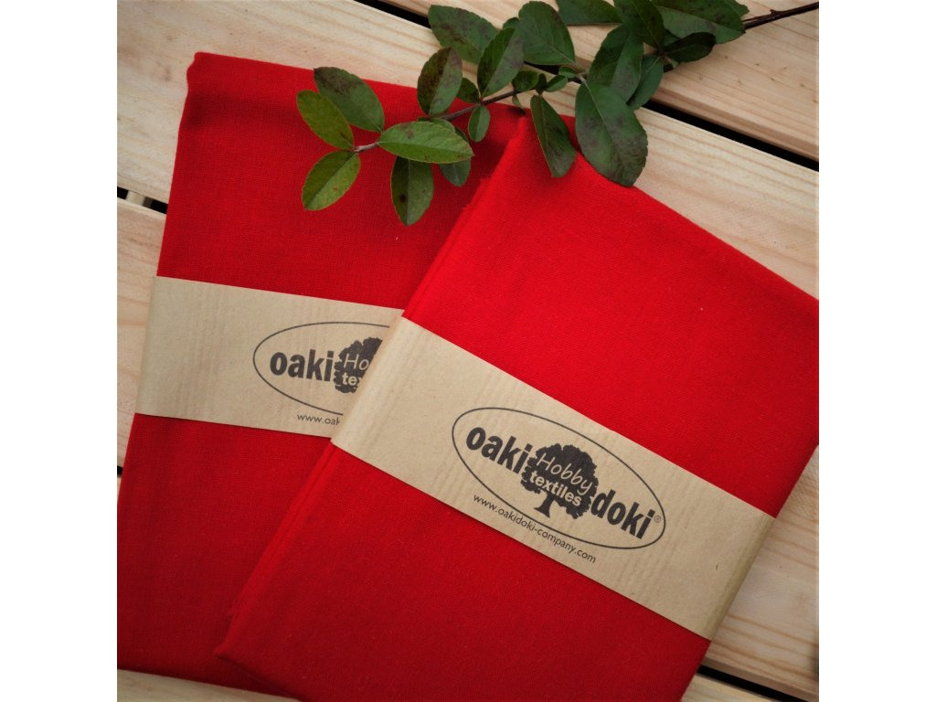 bavlna balíček 50x70 cm červená