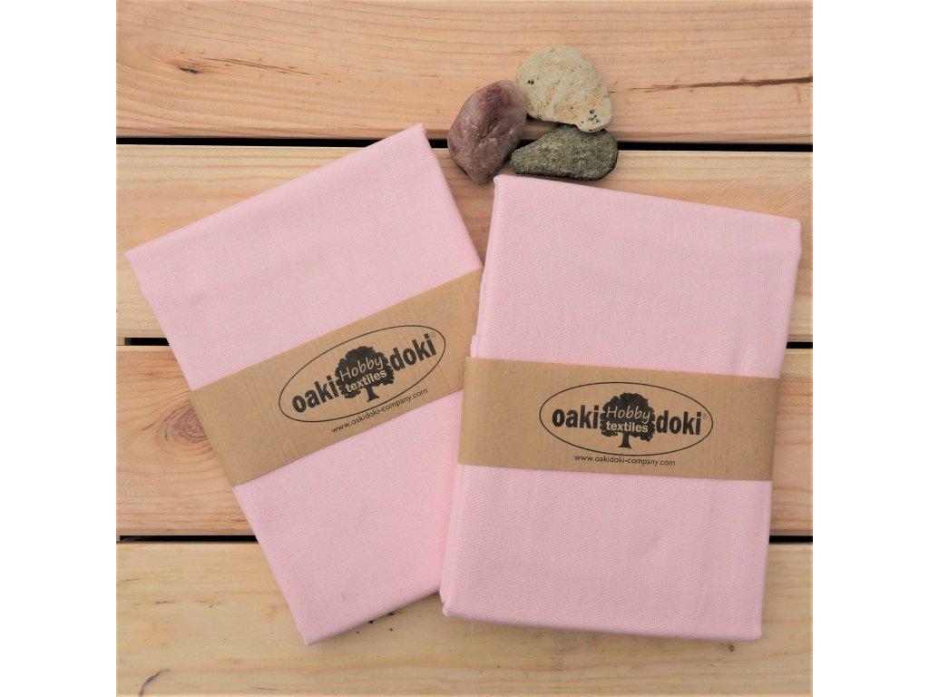 bavlna balíček 50x70 cm světlounce růžová