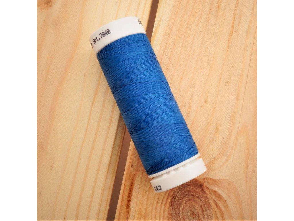 elastická niť SERAFLEX modrá- návin 130 m