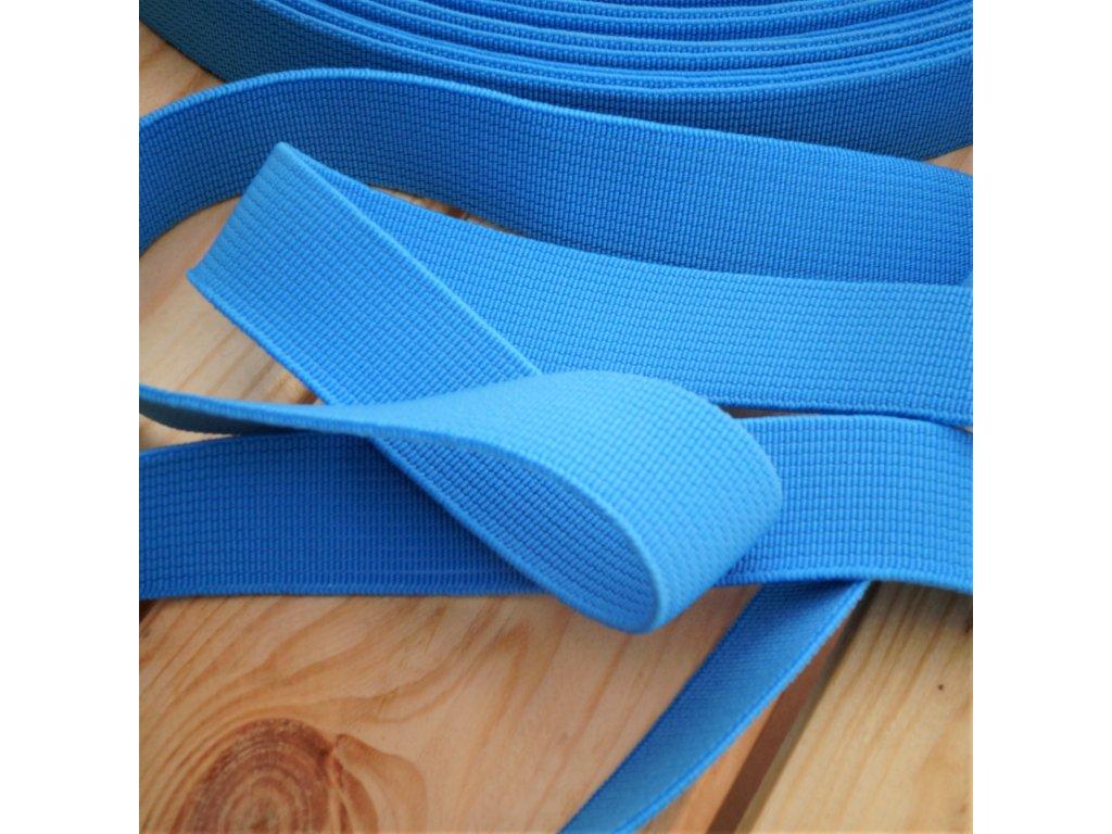 0,5 m tkaná guma do pasu nebesky modrá 2 cm