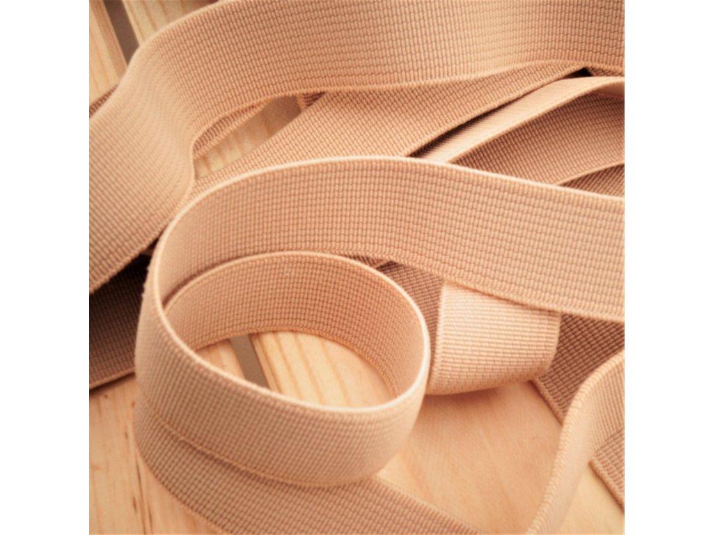 0,5 m tkaná guma do pasu béžová 2 cm