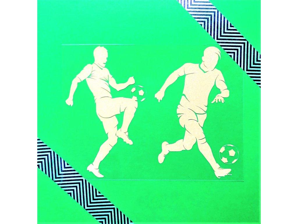 Reflexní nažehlovací potisk - fotbalisté II