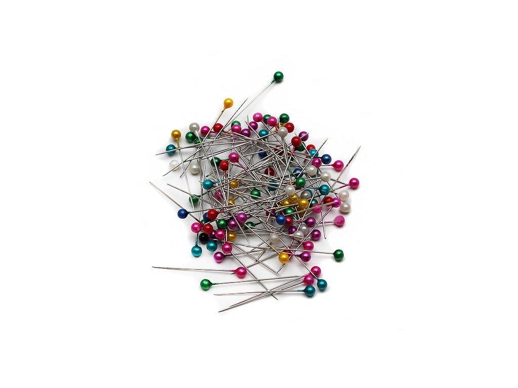 Napichovací špendlíky plastová hlava perleťové, Koh-i-Noor, 100ks