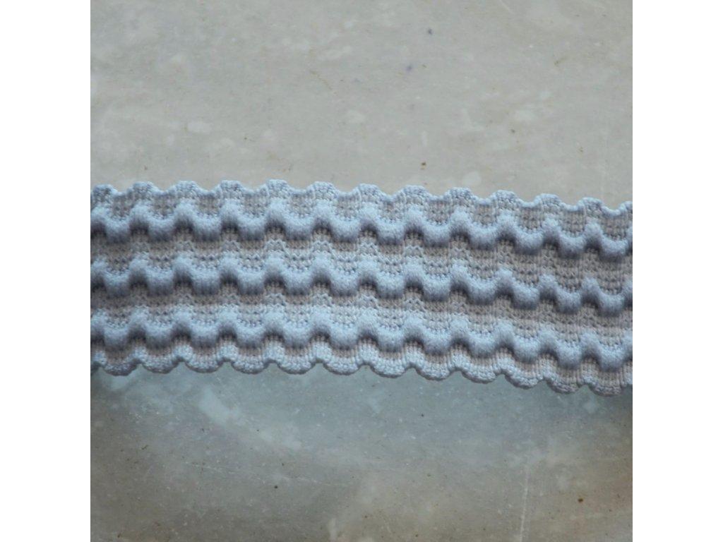 0,5 m pruženka do pasu vlnovka šedá 25 mm
