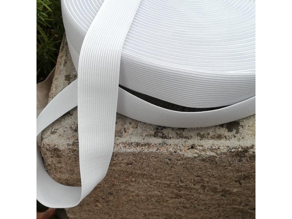225 cm galonová pruženka bílá 1 cm