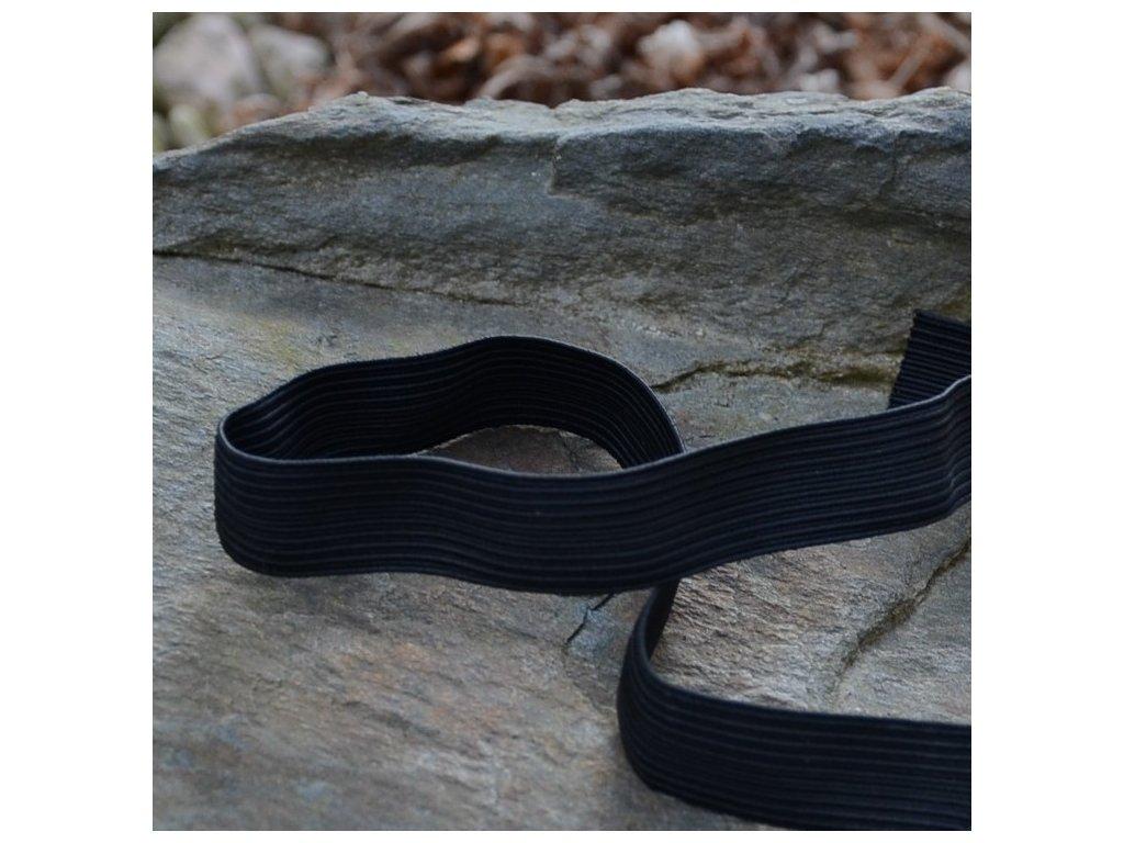 0,5 m pruženka do pasu prádlová klasická černá 9 mm