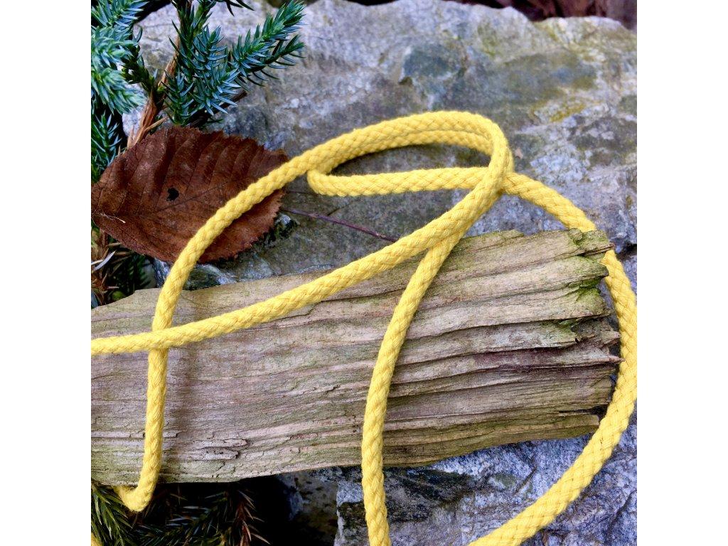 0,5 m bavlněná tkanice žlutá 5 mm