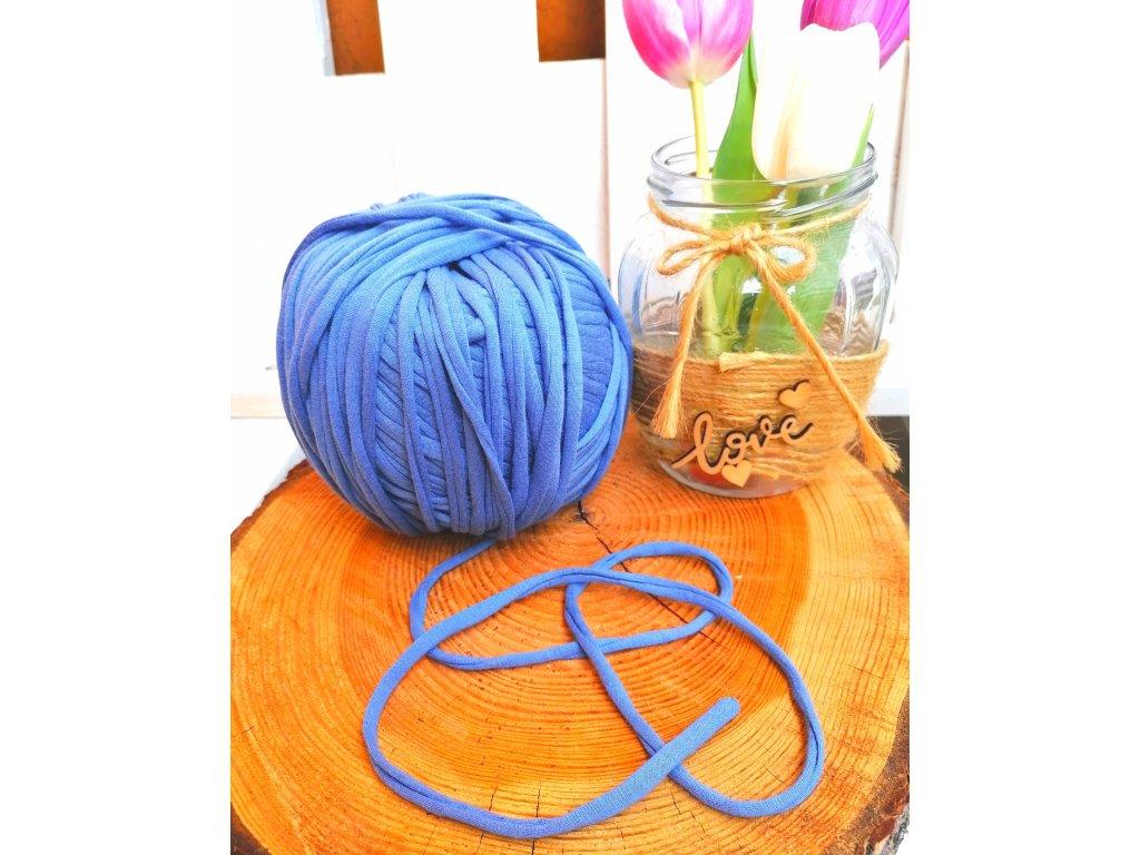 """0,5 m bavlněná tkanice - """"špagát"""", modrá 5 mm"""